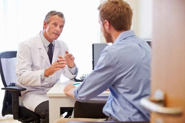 Pharmacist in consultation